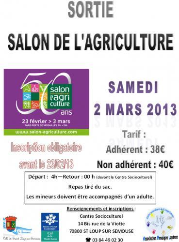 Evenements et manifestations en haute sa ne - Salon agriculture tarif ...